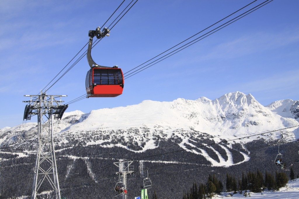 Gondola at Whistler and Blackcomb Mountain