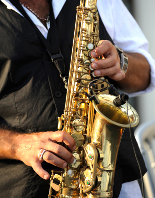 Jazz music - saxophone player