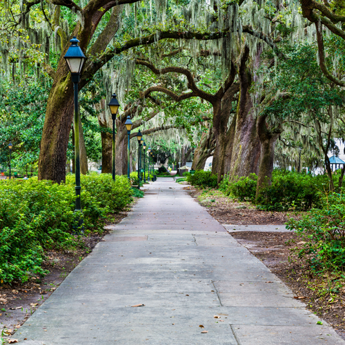 Forsyth Park in downtown Savannah, GA